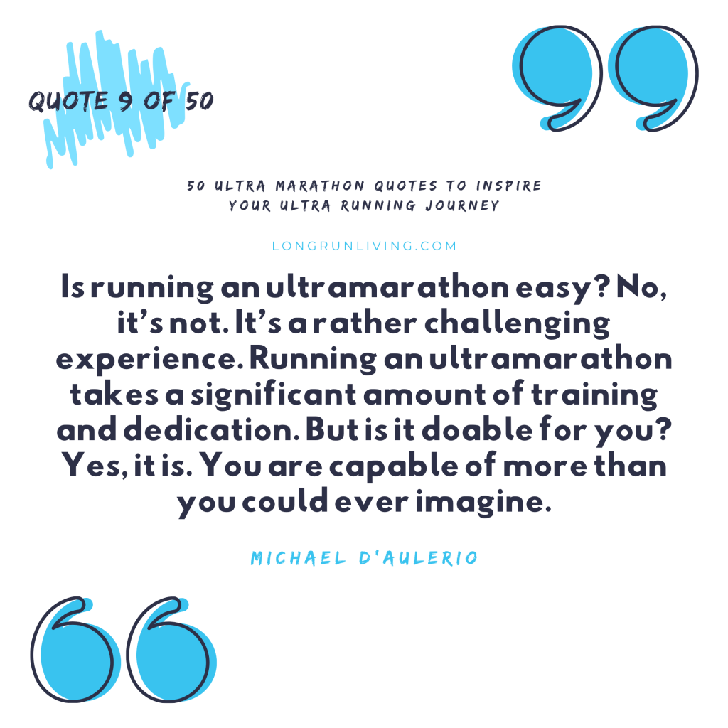 Ultra Marathon Quotes #9 // Long Run Living